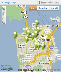 Google Map Mashup Homes for Sale