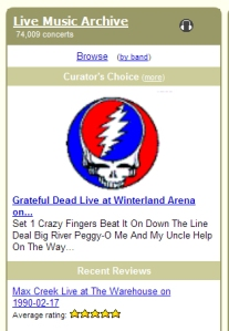 Greatful Dead on Internet Archive