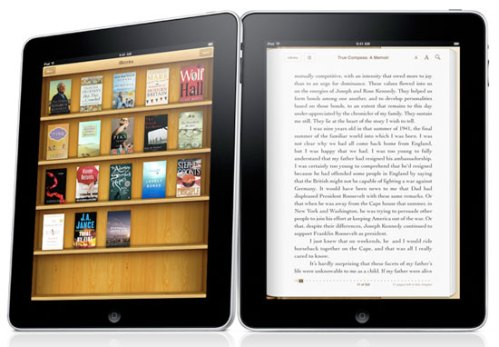Apple iPad with Kindle app
