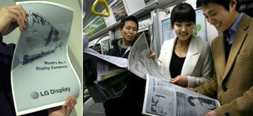 LG's Flexible ink Newspaper eReader