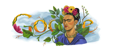 Google Celebrates Frida Kahlo