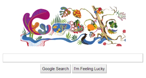 Google Logo: Josef Frank artwork