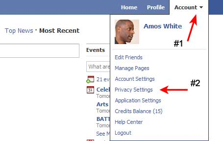 how to set facebook to follow only
