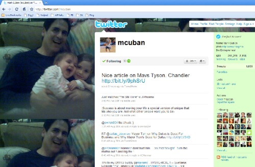 Mark Cuban, CEO, Twitter Profile