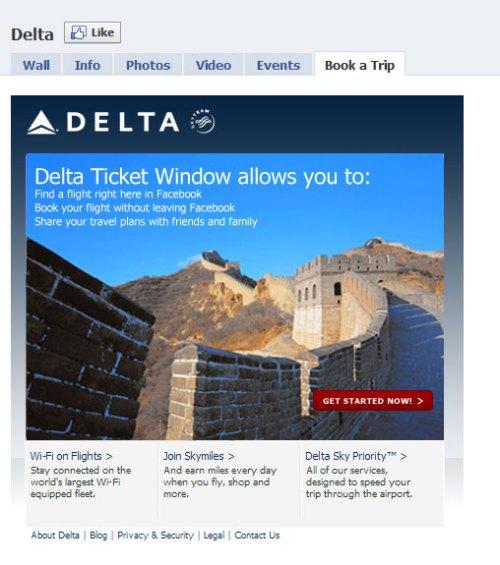 Delta-Facebook-Page