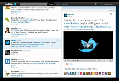 New Twitter: Multimedia Video Display