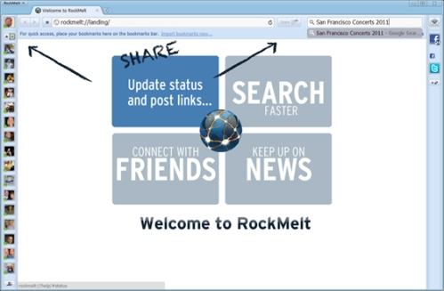 RockMelt Browser Social Network for Facebook